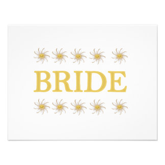 Daisies Bride T-shirts and Gifts Invites