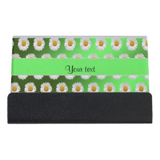 Daisies Desk Business Card Holder