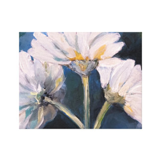Daisies Floral Art Canvas Print