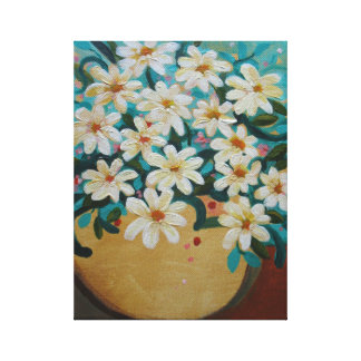 Daisies flower arrangement canvas print