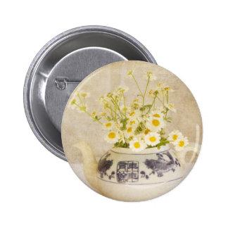 Daisies in a Teapot Pins