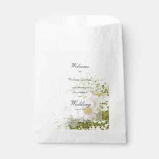 Daisies in Love- Editable Wedding Bouquet Favour Bag