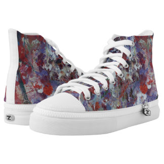 Daisies in Purple Fine Art Fashion Sneakers