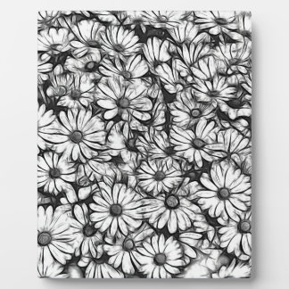 daisies in the garden plaque