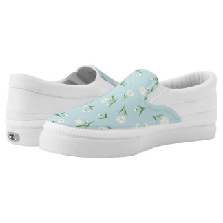 Daisies in the Sky Zipz Slip On Shoes Printed Shoes