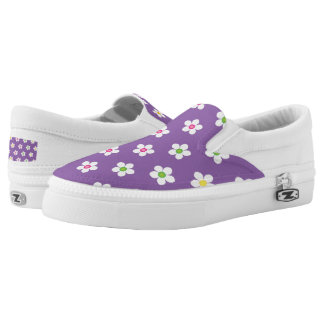 Daisies Lavender Women or Men Slip On Canvas Shoes Printed Shoes