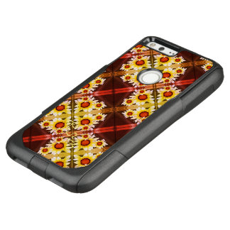 Daisies monogrammed orange OtterBox commuter google pixel XL case