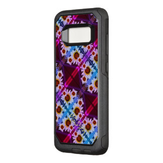 Daisies monogrammed red OtterBox commuter samsung galaxy s8 case