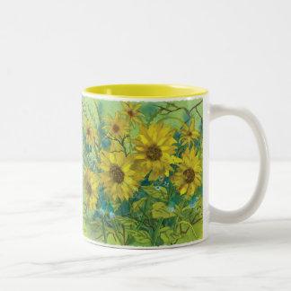 Daisies Two-Tone Mug