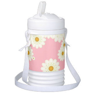 Daisies on pink cooler