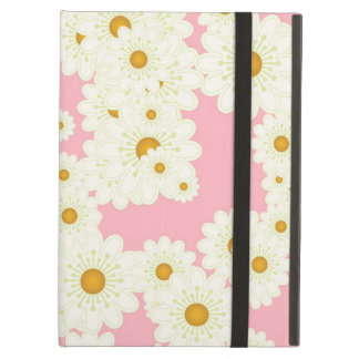 Daisies on pink iPad air cover