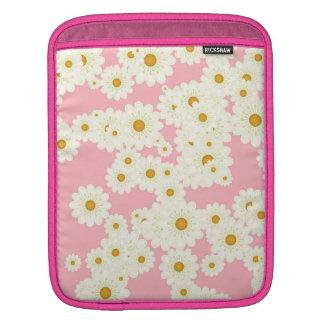 Daisies on pink iPad sleeve
