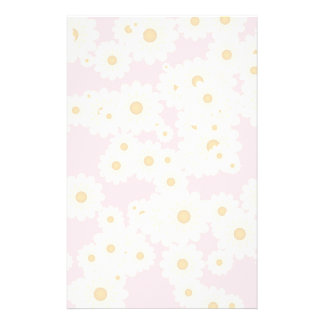 Daisies on pink stationery