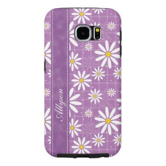 Daisies on Plaid Samsung Galaxy S6 Cases