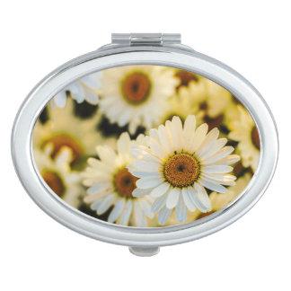 Daisies Oval Mirror Vanity Mirror