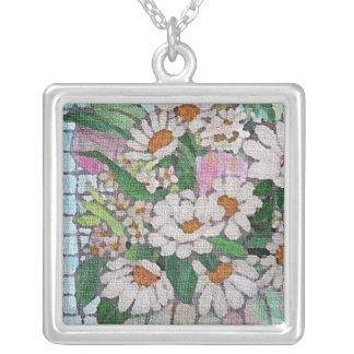 Daisies Painting Necklace