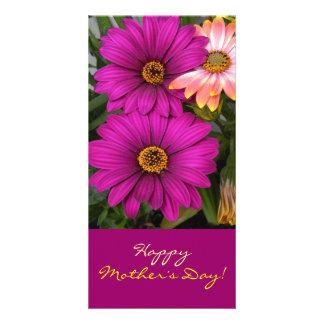 Daisies - photomap custom photo card