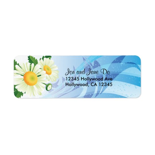 Daisies Return Address Label