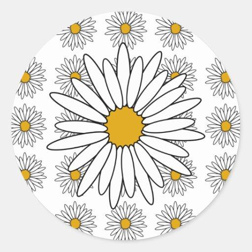 Daisies Round Sticker