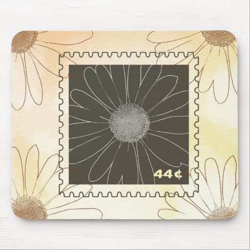 Daisies Stamp Mousepads