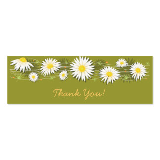 Daisies Thank You Tag Pack Of Skinny Business Cards