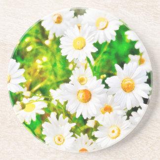 Daisies Watercolor Coaster