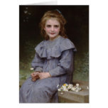 Daisies - William-Adolphe Bouguereau Greeting Card