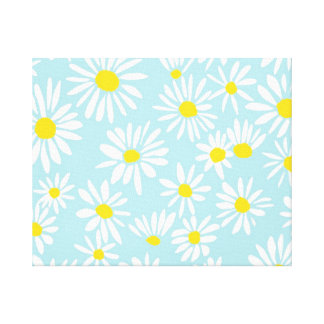 Daisies Wrapped Canvas Canvas Print
