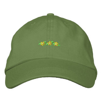 Daisy Accent Embroidered Hat