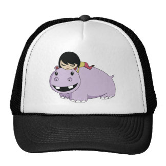 Daisy and Cookie the Hippo Cap