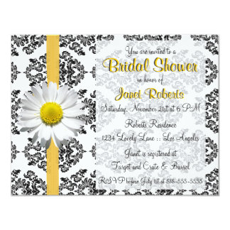 Daisy and Damask Bridal Shower Invitation