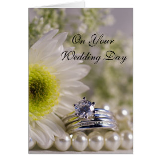 Daisy and Diamond Blended Family Wedding Greeting Card