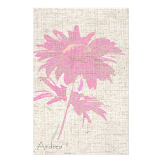 Daisy Art Linen Look Stationery