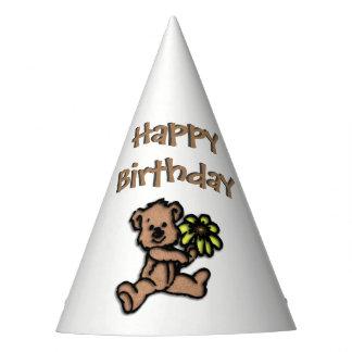 Daisy Bear Birthday Party Hat