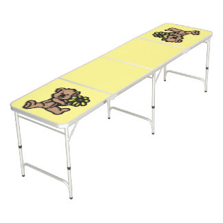 Daisy Bear Design Beer Pong Table