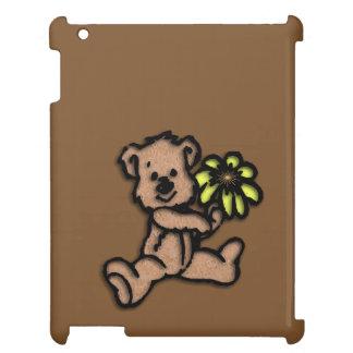 Daisy Bear Design Brown iPad Cover