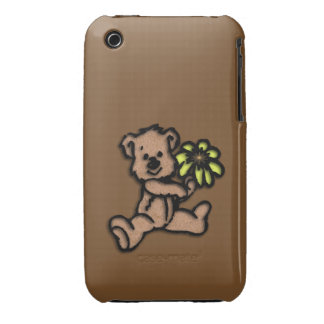 Daisy Bear Design Brown iPhone 3 Covers