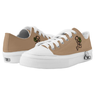 Daisy Bear Design Brown Name Low Tops