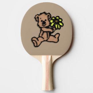 Daisy Bear Design Brown Ping Pong Paddle