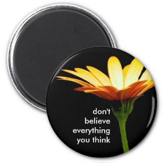 daisy bkgd don t believe everything you think refrigerator magnets
