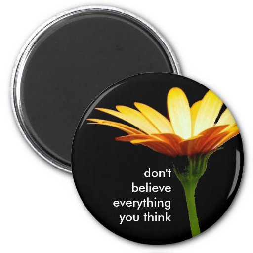 daisy bkgd, don't believe everything you think refrigerator magnets