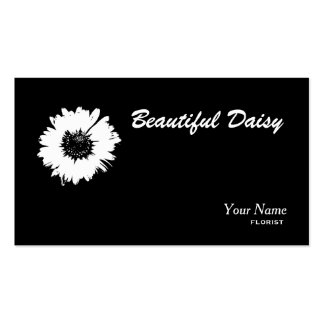 daisy black and white business card template