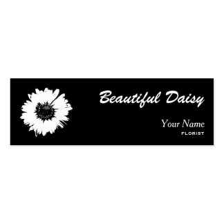 daisy black and white business card