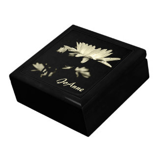 Daisy - Black and White Large Square Gift Box