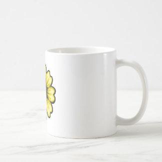 Daisy Black Yellow transp The MUSEUM Zazzle Gifts Mug