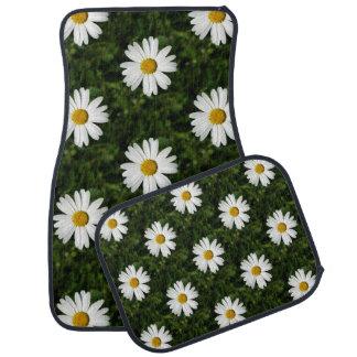 Daisy Bloom seamless pattern + your ideas Floor Mat