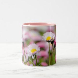 Daisy Blossoms Elegant  Romantic  Wedding Parties Two-Tone Coffee Mug