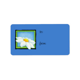 Daisy blue Gift Tag Label Address Label