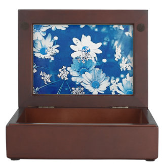 Daisy Blue Keepsake Box