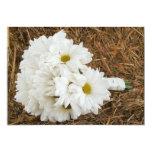 Daisy Bouquet & Hay - Country Wedding Invitation 13 Cm X 18 Cm Invitation Card